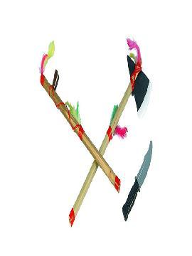 kit indio pipa hacha y cuchillo