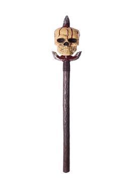 lanza con calavera sangrienta desmontable 142 cm