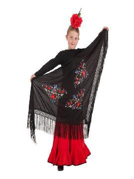 manton de sevillana negro 160 x 85 cm