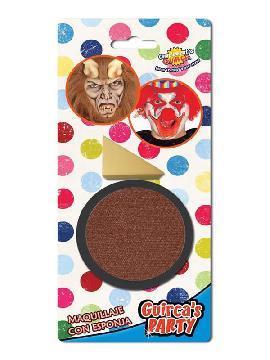 maquillaje marron con esponja