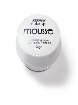 maquillaje 4 unidades mousse al agua blanco 14 gr