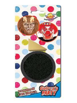 maquillaje negro con esponja