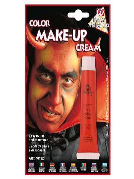 maquillaje crema roja