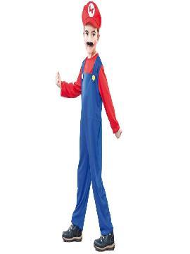 disfraz de mario bros economico para niño 5 a 6 años