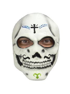 mascara catrin del dia de los muertos con cruz