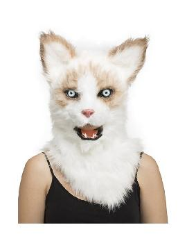 mascara con mandibula movil de gato