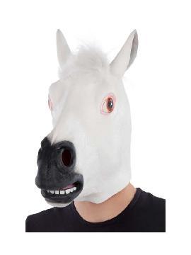 mascara de caballo blanco completa latex