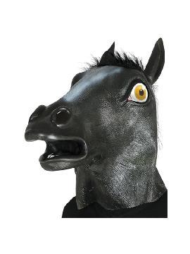 mascara de caballo negro latex