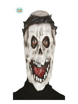 mascara de calavera con corona de espinas latex adulto