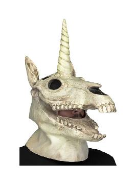 mascara de calavera unicornio