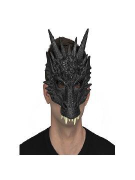mascara de dinosaurio negro