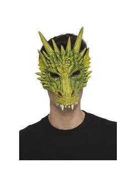 mascara de dragon verde foam