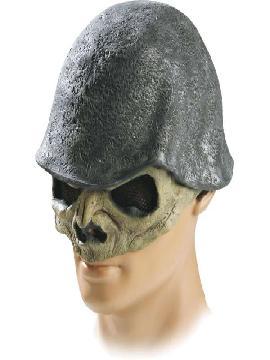 mascara de esqueleto con casco latex