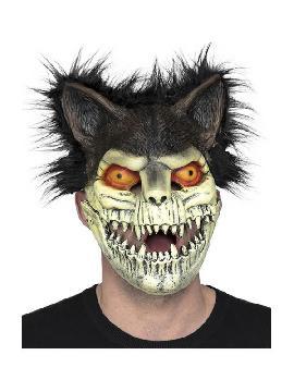mascara de esqueleto de gato con orejas