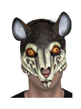 mascara de esqueleto de raton con orejas