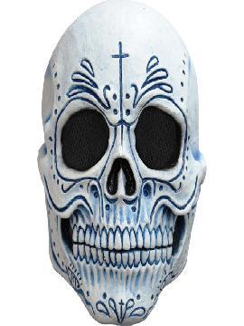 mascara de esqueleto muerte mexicana para adulto
