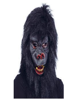 mascara de gorila con pelo adulto