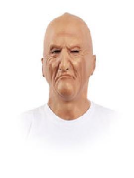 mascara de hombre calvo
