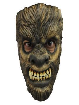 mascara de hombre lobo del bosque adulto