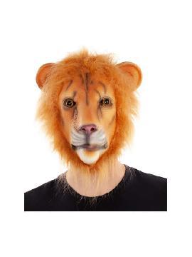 mascara de leon con pelo completa latex