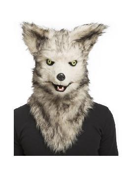 mascara de lobo con mandibula movil