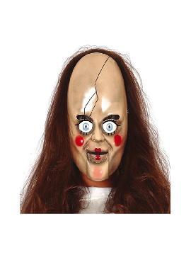 mascara de muñeca terrorifica pvc