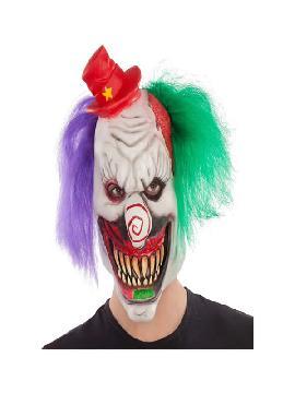 mascara de payaso con sombrero latex