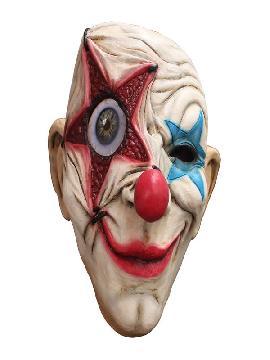 mascara de payaso estrellado latex adulto