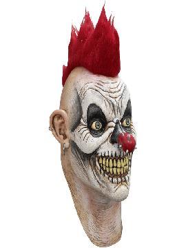 mascara de payaso punk latex para adulto