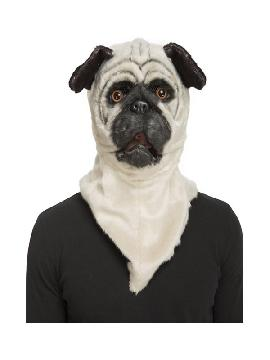 mascara de perro bulldog con mandibula movil