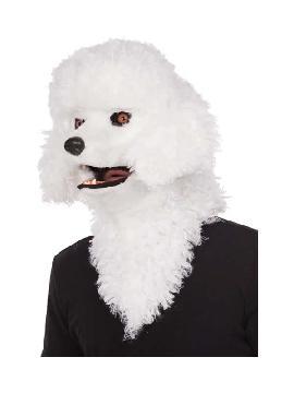 mascara de perro caniche con mandibula movil