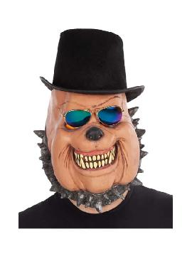 mascara de perro con sombrero completa latex