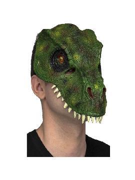 mascara de t rex verde