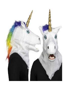 mascara de unicornio con movimiento de mandibula