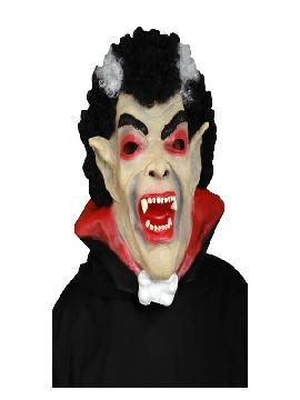 mascara de vampiro con pelo adulto