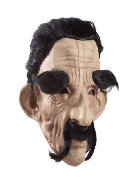 mascara de viejo con bigote y cejas