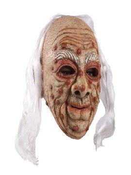 mascara de viejo con verugas y pelo