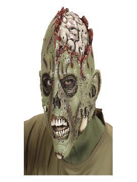 mascara de zombie con craneo de latex adulto