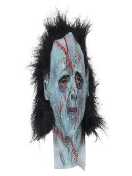 mascara de zombie latex y pelo