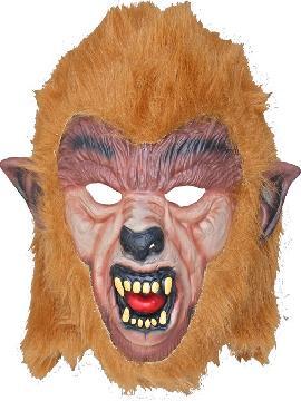mascara hombre lobo de latex con pelo