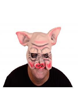 mascara media cara de cerdo