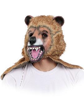 mascara oso pardo con pelo