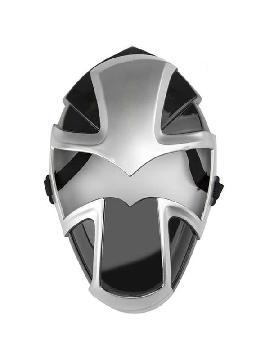 mascara plateada ninja 15x29 cm