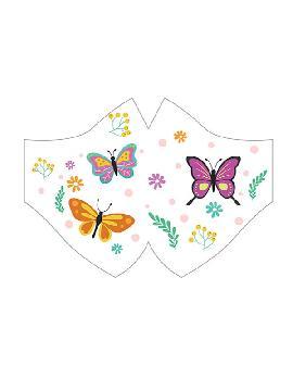mascarilla de mariposas con salvaorejas