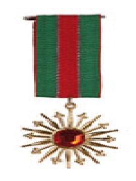medalla de militar con estrella