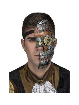 media mascara steampunk con rodamientos