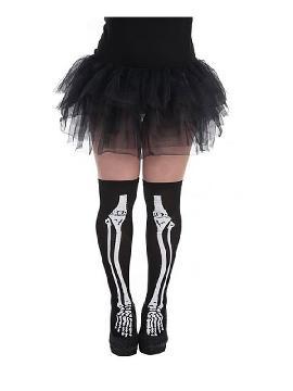 medias de esqueleto negras