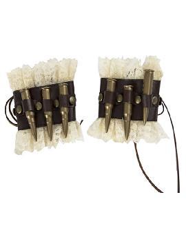 muñequeras de steampunk con balas