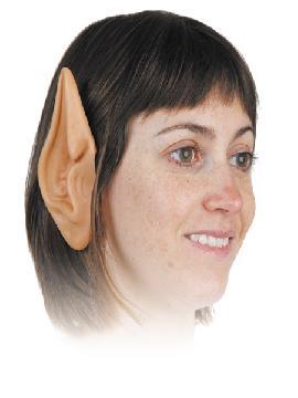 orejas altas de latex 1 par rojas
