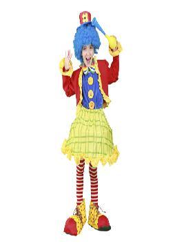 disfraz de payasa con chaqueta infantiles para niñas bt 08117.Este comodísimo traje es perfecto para carnavales.Este disfraz es ideal para tus fiestas temáticas de disfraces de payasos del circo,bufones y arlequines para niñas.